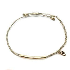 STELLA & DOT Adjustable Evil Eye Cord Bracelet